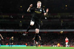 Premier League Arsenal 0 3 Manchester City Peerless De Bruyne Inspires Emphatic Victory