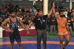 Gurpreet Continues His Dominance At Tata Motors Senior National Wrestling Championships