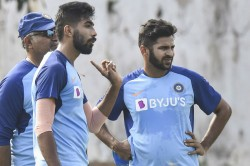 India Vs West Indies Bumrah Bowls Full Tilt Prithvi Spends Time With Trainer Webb