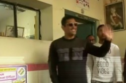 Ms Dhoni Casts His Vote In Ranchi In Ongoing Jharkhand Assembly Elections