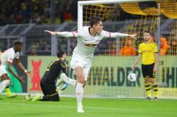 Bundesliga Schick Salvages Point For Leaders Leipzig In Dortmund Thriller