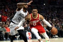Westbrook Harden Houston Rockets Nba Clippers Bucks Lakers