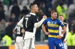 Juventus Parma Serie A Report Cristiano Ronaldo Double