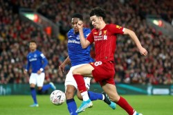 Liverpool Everton Fa Cup Merseyside Derby Curtis Jones Frustrated Waiting Chance