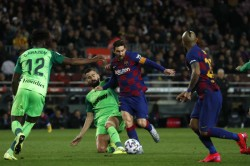Copa Del Rey Messi Leads Barcelona Rout Over Leganes
