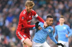 Manchester City Fulham Fa Cup Tim Ream Red