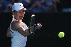 Garbine Muguruza Victory Halep Feels Sun Heat Australian Open Semi Final