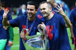 Andres Iniesta Xavi Coaching Barcelona