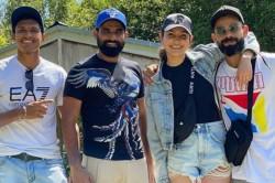 Watch Anushka Sharma Joins Hubby Virat Kohli And His Teammates At Blue Springs Waterfront