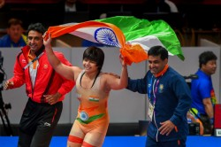 Asian Wrestling Championships Divya Kakran Clinches Gold In 68kg Category