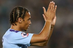 Pep Guardiola Leroy Sane Training Manchester City Return From Knee Injury Acl