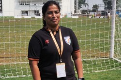 Indian Women S Football Coach Scouts For Talent In Khelo India University Games