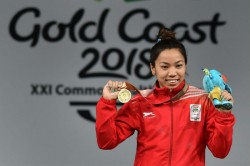 Weightlifting Mirabai Chanu Betters Her Own National Record Lifts 203 Kg To Win Nationals Gold