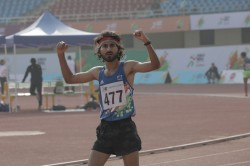 Khelo India University Games Narendra Pratap Singh Complete Grand Double