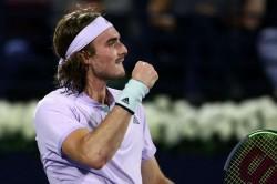 Stefanos Tsitsipas Beats Pablo Carreno Busta Dubai Tennis Championships Benoit Paire Defeat Marin Cilic