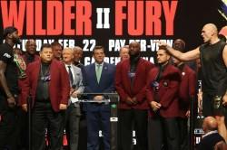 Tyson Fury Deontay Wilder Weigh In Heavyweight Rematch