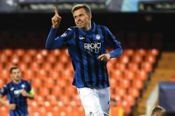 Valencia Atalanta Champions League Match Josip Ilicic