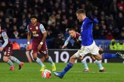 Leicester City Aston Villa Premier League Jamie Vardy Double