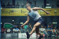 Black Ball Open Squash Nada Abbas Shocks Joshna Chinappa