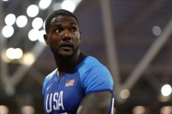 The Old Guards Justin Gatlin Asafa Powell Hanging On For Games In