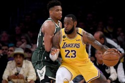 Lebron Lakers Take Down Giannis Bucks To Clinch Playoff Spot Baynes Makes History