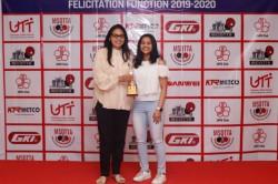 Mumbai Paddlers Diya Madhurika And Mudit Hog Spotlight At Msdtta Mcdtta Felicitation
