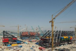 Ras Abu Aboud Qatar 2022 Venue From Shipping Containers