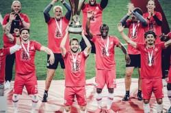 Coronavirus Salzburg Celebrate Cup Success In Socially Distant Fashion As Season Restarts