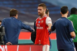 Arsenal Defender Shkodran Mustafi Hamstring Surgery Bernd Leno To Train Fa Cup Final Chelsea