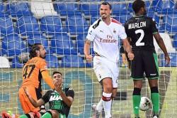 Sassuolo 1 2 Milan Ibrahimovic Strikes Twice Rossoneri Fifth Serie A