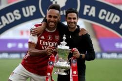 Mikel Arteta Pierre Emerick Aubameyang Arsenal Greats
