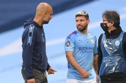 Sergio Aguero Manchester City Striker Could Be Out For Two Months Pep Guardiola