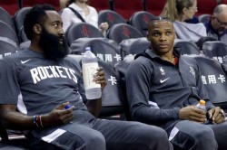 Lebron James Lauds Russell Westbrook James Harden Lakers Rockets