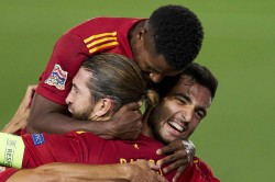 Spain 4 0 Ukraine History For Fati And Ramos At The Double