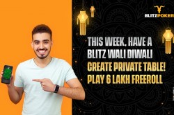 Blitzpoker S Festive Fiesta Launches Rs 6 Lakh Diwali Freeroll Private Tables And Celebrity Matches