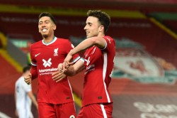 Liverpool 3 0 Leicester City Reds Set New Unbeaten Home Record As Jota Streak Continues
