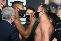 Joshua Pulev Weigh In War Of Words Heated Exchange Heavyweight Title Fight