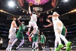 Lebron Guides Lakers Past Mavericks Nets Dominate Celtics