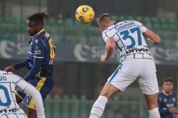 Hellas Verona Inter Serie A Report Milan Skriniar Seventh Straight