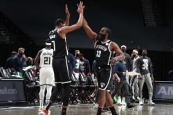 James Harden Kevin Durant Nets Bucks Warriors Lakers