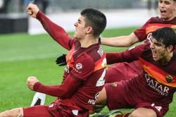 Roma 2 2 Inter Late Mancini Header Denies Nerazzurri