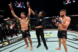 Ufc Fight Island 7 Results Holloway Brilliant In Dominant Victory Over Kattar