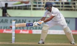 India Vs Australia 4th Test Rohit Sharma Does Shadow Batting At Crease Stuns All