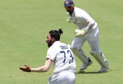 India Vs Australia 4th Test Mohammed Siraj S Fifer Keeps Visitors In Toes Of Aussies Rain Ends Day