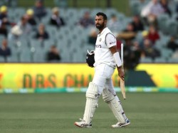 India Vs England Pink Ball Test Cheteshwar Pujara Gets Dismissed For The First Time At Duck Gujarat