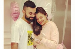 India Vs England India Captain Virat Kohli S Wife Anushka Sharma Daughter Vamika Arrive Ahmedabad