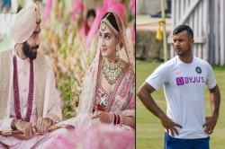 Jasprit Bumrah Ties The Knot With Sanjana Ganesan Cricketers Wish Them Mayank Agarwal Trolled