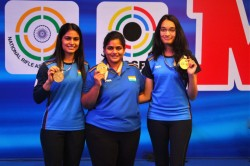Issf World Cup 2021 Sports Pistol Women Strike Gold Again In 25m Team Event