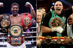 Breaking News Anthony Joshua And Tyson Fury Sign Two Fight Deal Says Hearn