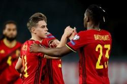 Belgium Belarus World Cup Qualifier Report Leandro Trossard Scores Twice